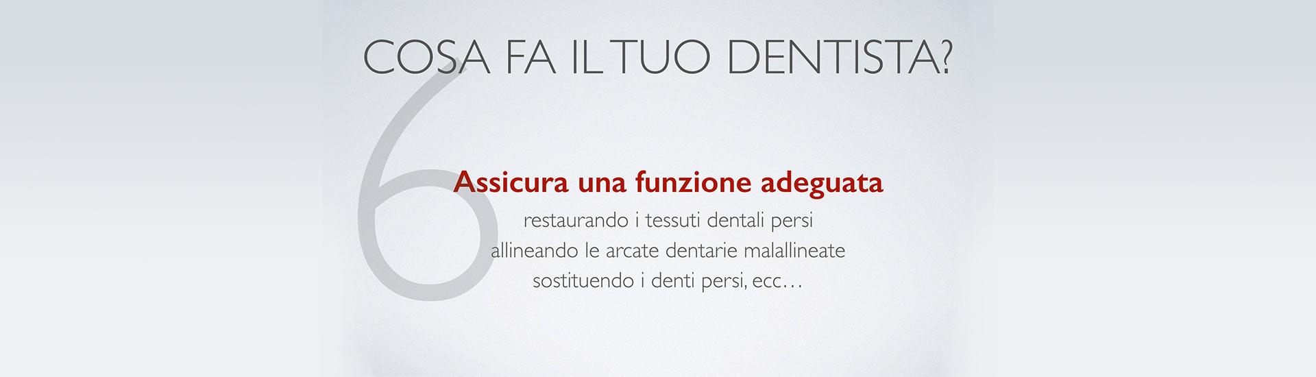 Cosa fa il tuo dentista? Punto 6